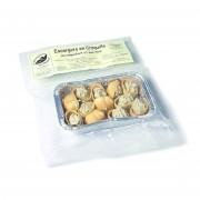 Escargots en croquille roquefort et noix