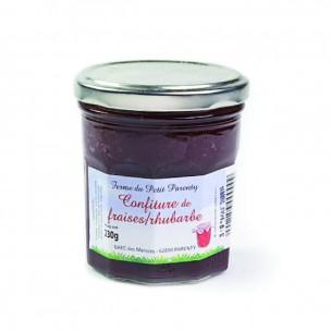 Confiture Fraise - rhubarbe 230g